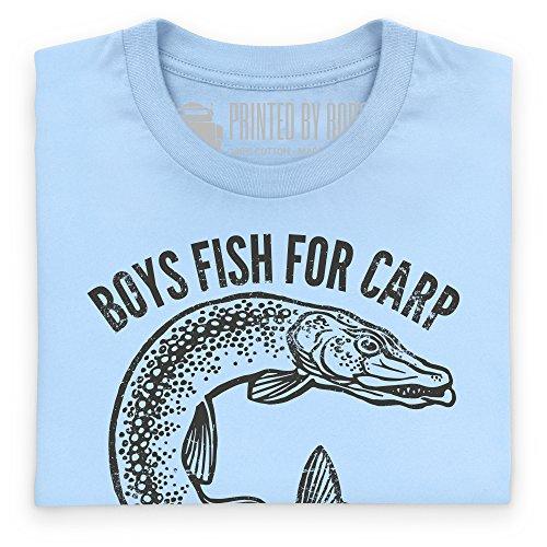 Men Fish For Pike T-Shirt, Herren Himmelblau