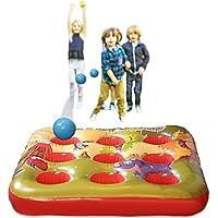 KreativeKraft Target Ball Juego Inflable para niños Fiesta Juegos de Verano al Aire Libre para Boy Girl 3 en una Fila Inflatables Jardín de Juguete
