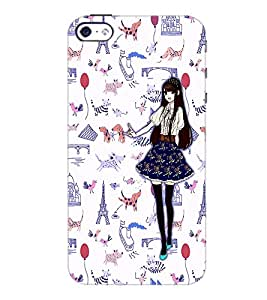 PrintDhaba Fantasy Girl D-1027 Back Case Cover for APPLE IPHONE 5S (Multi-Coloured)