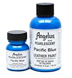 Angelus Brand Acrylic Leather Paint - Pearlescent Pacific Blue