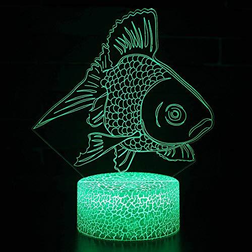 Night Light Kids Bedside 3d Led Visual Atmosphere Changing Colorful Brocade Carp Shape Desk Lamp Nightlight Fish Lighting Fixture Decor Gift Gift Gift -