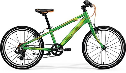 Unbekannt Kinder Fahrrad 20 Zoll grün - Merida MATTS J20 Race Mountainbike - Shimano Schaltung 14 Gänge