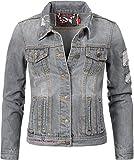 Navahoo Damen Jeansjacke Übergangsjacke Pamuyaa Grau Denim Gr. XS