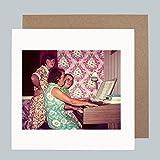 Organ Party 1960's–Vintage Retro Musik Funny Grußkarte von Honovi Cards