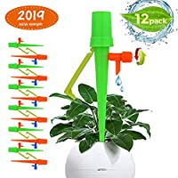 MuZhuo 12PCS Adjustable Plant Waterer with Anti Tilt Anti Down Bracket - Automatic Self Irrigation Watering Drip Devices for Outdoor and Indoor Plants