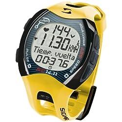 Sigma 0012096 Reloj Pulsómetro Deportivo RC 14.11 Amarillo, Incluye Banda torácica, señal codificada, Unisex