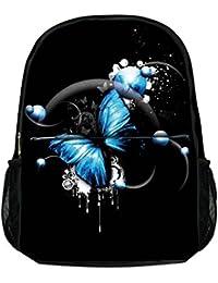 Luxburg ® Élégant Sac à dos pour école, sport, voyages - Papillon Bleu