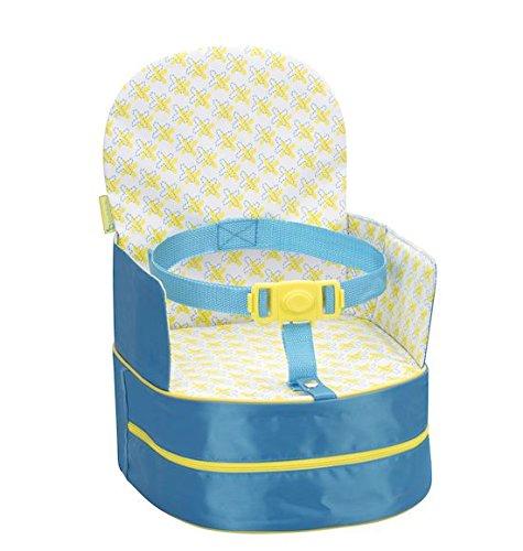 Badabulle Sitzerhöhung, für unterwegs und für Stuhl, als Rucksack tragbar, türkis, 10 cm
