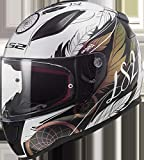 LS2 FF353 RAPID BOHO - Casco da moto, taglia S, colore: Bianco/Nero/Rosa