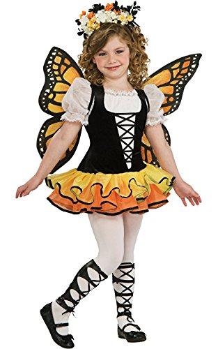 Mädchen Monarch Butterfly Kostüm Mädchen groß (Mädchen Butterfly Halloween-kostüm)