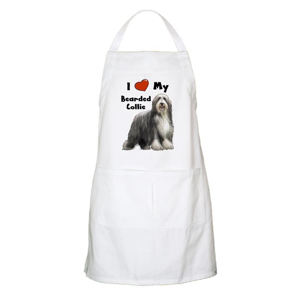 CafePress I Love My Bearded Collie BBQ Apron Grilling Apron