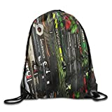 FAFANIQ Twin Tip Snow Skis Drawstring Bag for Traveling Or Shopping Casual Daypacks School Bags