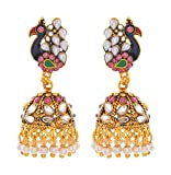 Khoobsurat Gold Brass Jhumki Earrings fo...