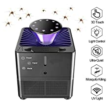 Yeelan Electric Mosquito Killer Lamp Insect Killing Lamps Bionic Trap Camping Light with UV LED Light Control, Bug Zapper with USB Power/3D Touch for Indoor & Outdoor