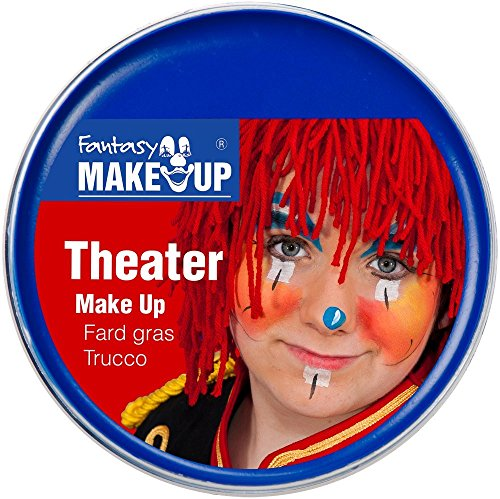 Festartikel Müller Theater Make Up Farbe blau 25 g Fasching Halloween ()