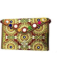 Shubhangi Women's Sling Bag (Jaipuri Embroidered Handicraft Traditional Sling Bags,embroidery Sling Bag,Stylish-Embroidery... - B079KRBBKC