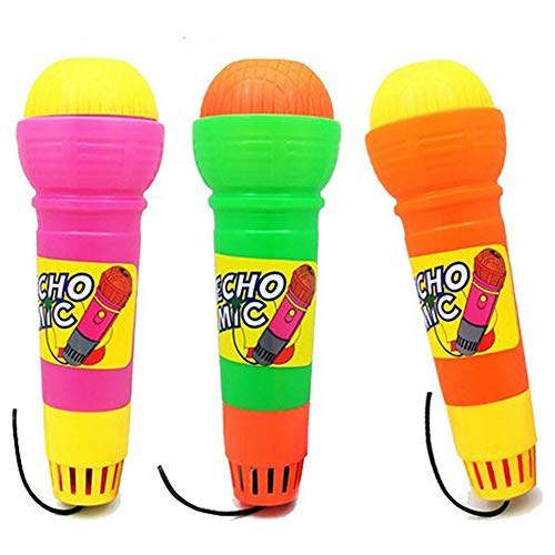 Yililay 1pc Spielzeug der Kinder Echo-Mikrofon Mic Voice Changer Spielzeug-Geschenk-Geburtstags-Geschenk-Kind-Partei (zufällige Farbe)