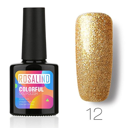 Vernis à ongle,Nail Art, Gel à Ongles,Gel de Vernis,PowerFul-LOT ROSALIND 10ML Chameleo Vernis À Ongles Nail Art Nail Gel Vernis UV LED Gel Polonais(12)