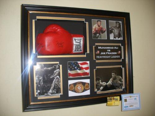 Ultra Rare Muhammad Ali und Joe Frazier Dual unterzeichnet Handschuh