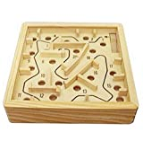 Pengmma 3D Labyrinth Kinder Holz Puzzle-Spiel Holz Labyrinth