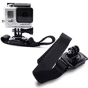 XCSOURCE® ceinture de fixation sur poignet de bras élastique rotative 360 degrés pour GoPro Hero 1 2 3 3+ 4 étui OS79