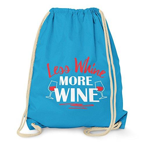 TEXLAB - Less Whine More Wine - Turnbeutel, (Frauen Australien Sport Kostüme)