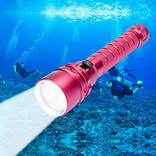 Lampe Torche de Plongée CrazyFire 3CREE XM-U U2 4000LM 3 Mode Étanche jusqu'à 100m Sous-Marine Lampe Torche Alimenté par 2x18650 Batterie(inclus 2 batterie et USB charger)
