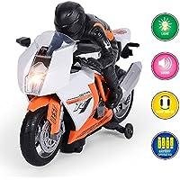 GP TOYS Elektro Motorrad mit Fahrer Musikspielzeug mit LED-Licht und Musik Geschenk für Kinder BabyB07BS5W9JY