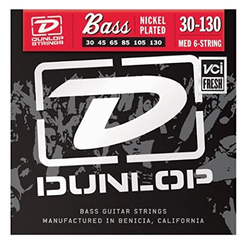 Dunlop DBN30130 Nickel Medium 6 String 30-130 Stainless Steel Bass