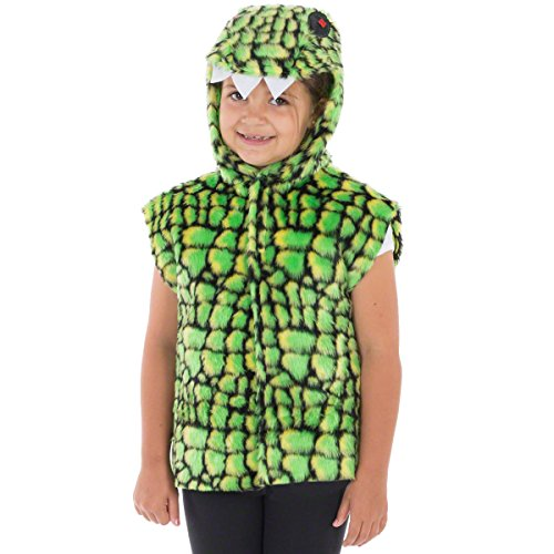 Krokodil oder Alligator kostüm für Kinder - Einheitsgröße 3-9 (Schwanz Kostüme Krokodil)