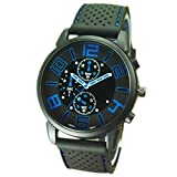 Tianfuheng Men's Fashion Quartz Analog Watches, Silicone Rubber Band Stainless Steel Wrist Watch on Sale Clearance