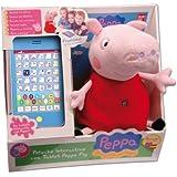 Peppa Pig - Peluche interactivo con tablet (Bandai 84268)