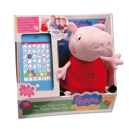peluche tablet peppa pig