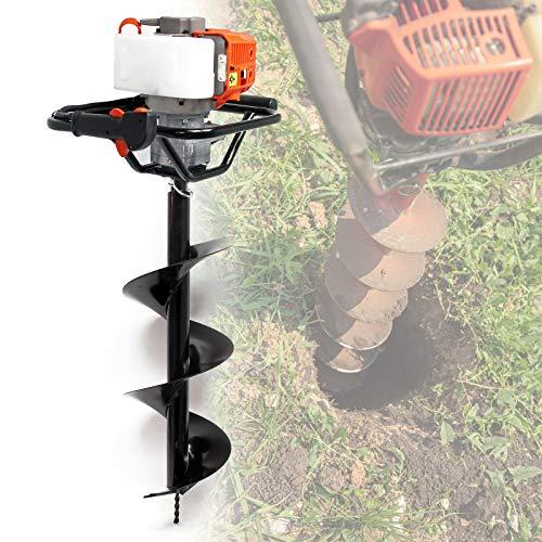 WilTec Tarière Thermique Essence Set avec Foret de 300 mm, 1,4 KW 1,9 CV Machine à percer Jardinage