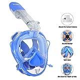 Unigear Tauchmaske, Schnorchelmaske Vollgesichtsmaske, Tauchen Schnorcheln Vollmaske (Blau)