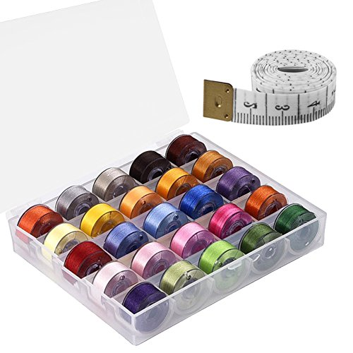 paxcoo-25-pcs-bobbins-and-sewing-thread-with-case-and-soft-measuring-tape-for-brother-singer-babyloc