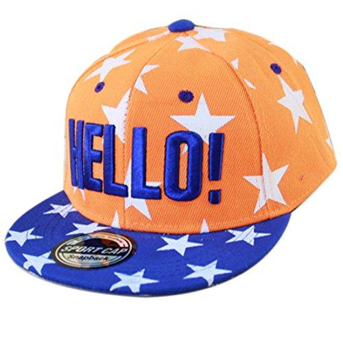 THENICE Kind Hip-Hop Cap Baseball Kappe Hut (Star orange)