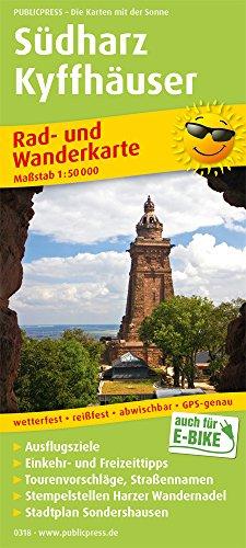 Südharz - Kyffhäuser: Rad- und Wanderkarte mit Ausflugszielen, Einkehr- und Freizeittipps und Stadtplan Sondershausen, reissfest, wetterfest, ... 1:50000 (Rad- und Wanderkarte / RuWK)