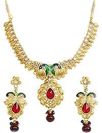 Touchstone Lovely Multicoloured Austrian Diamonds Necklace Set For Women
