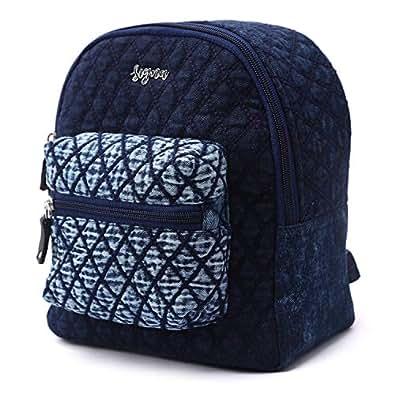 SIGNA BAGS Women's Denim Blue Backpack