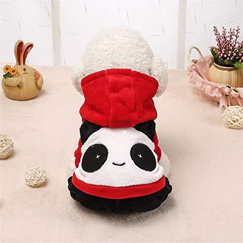 Hundebekleidung Happy Panda Pet Kleider Teddy Pudel Welpen Kostüme Mit Hüten Herbst Und Winter Kleidung Vierbeinige Kleidung Heimtierbedarf (Size : - Pet Panda Kostüm