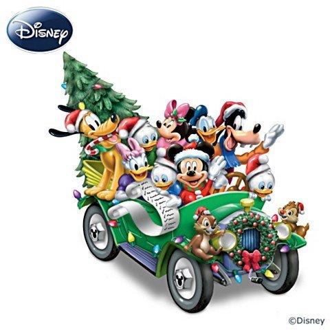 Es war einmal an Weihnachten - Beleuchtete Skulptur mit Disney-Figuren und Musik