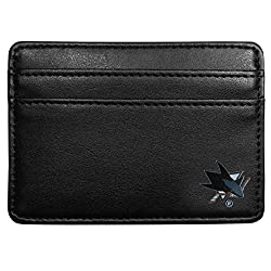 NHL San Jose Sharks Leather Weekend Wallet, Black