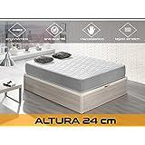 Dormi Premium Silver 24 - Colchón Viscoelástico, 90 x 190 x 24 cm, Algodón