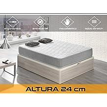 Dormi Premium Silver 24 - Colchón Viscoelástico, 150 x 190 x 24 cm, Algodón