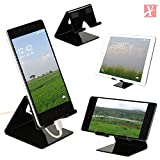 #8: YT Mobile Phone Metal Stand/Holder for Smartphones and Tablet - Black Glossy (Proudly Made in India)