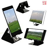 YT Mobile Phone Metal Stand/Holder for Smartphones and Tablet - Black Glossy (Proudly Made in India)