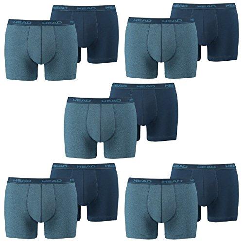 Head Boxer-shorts (HEAD Men Boxershort Basic Boxer 10er Pack, Größe:XL;Farbe:blue heaven (494))