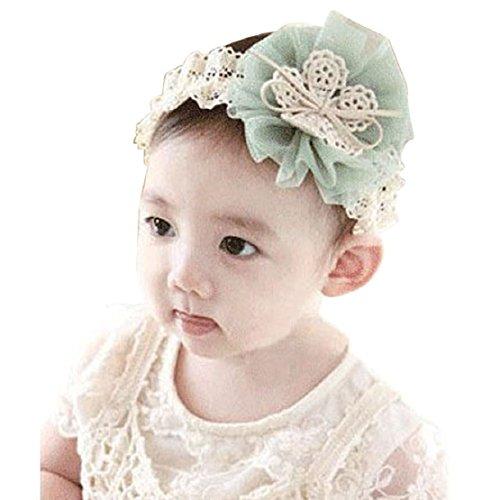 Tonsee® 1PC Kids Baby Flowers Headband Lace Bow Hair Wear Hairband Ribbon