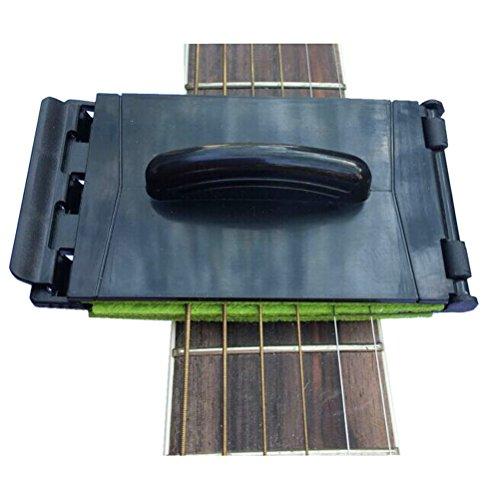 ROSENICE String Cleaner Gitarre Griffbrett Gitarrensaite Reiniger Pflege Werkzeug (zufällige Farbe)